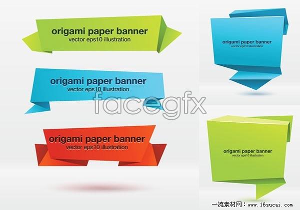 Origami effect Banner vector