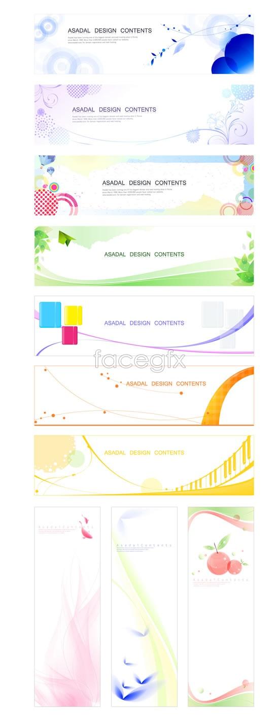 Pattern line banner Vector