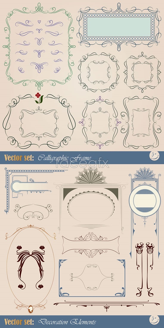 Pattern lines lace Vector