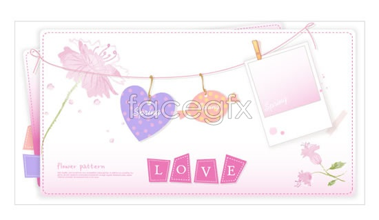 Romantic card background Vector