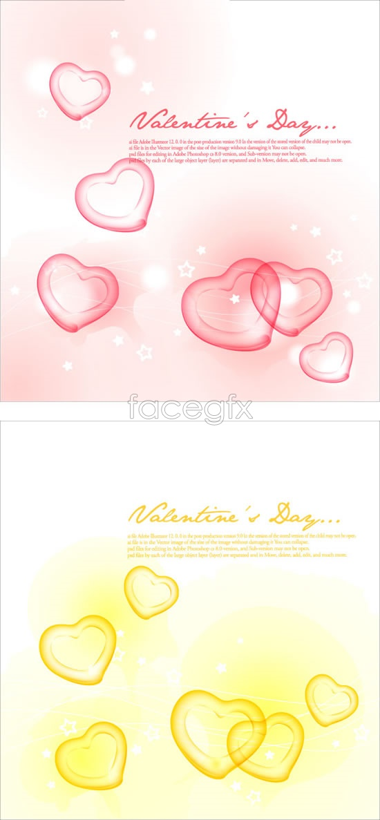 Romantic light heart background Vector