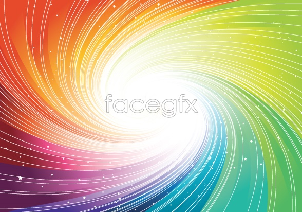 Rotate the light background Vector