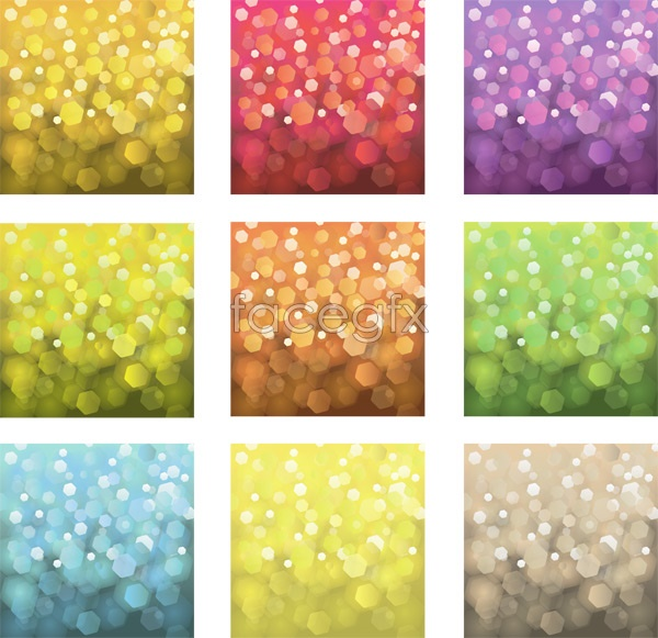 Shiny color circles background Vector