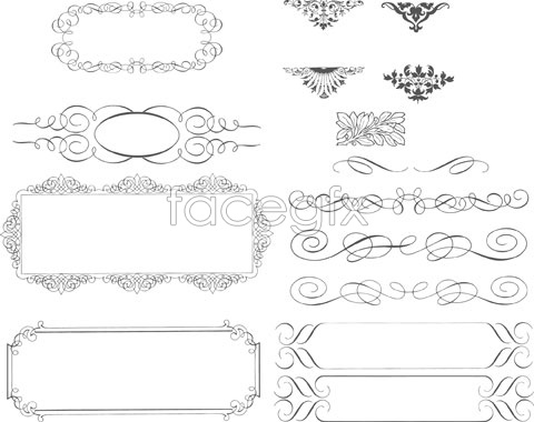 Simple lace decoration Vector