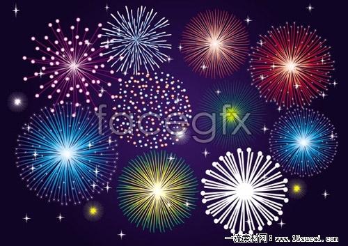 Splendid fireworks Fireworks vector II