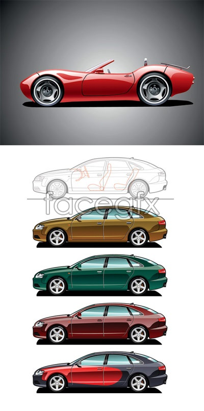 Sports car Coupe vector
