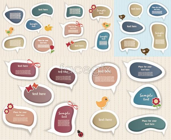 Sticker dialog box vector