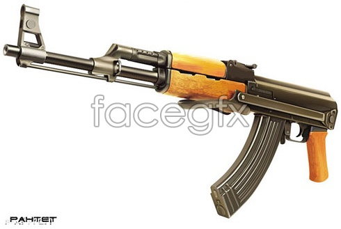 Submachine gun-vector