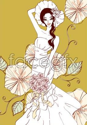 Sweet marriage vector _91