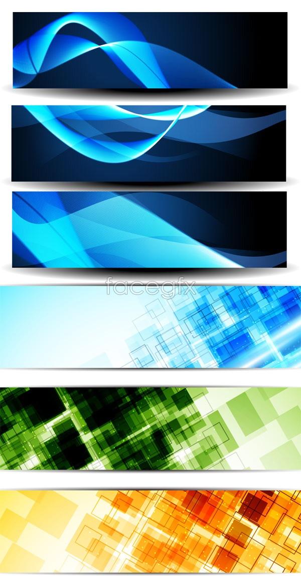 Technology banner vector