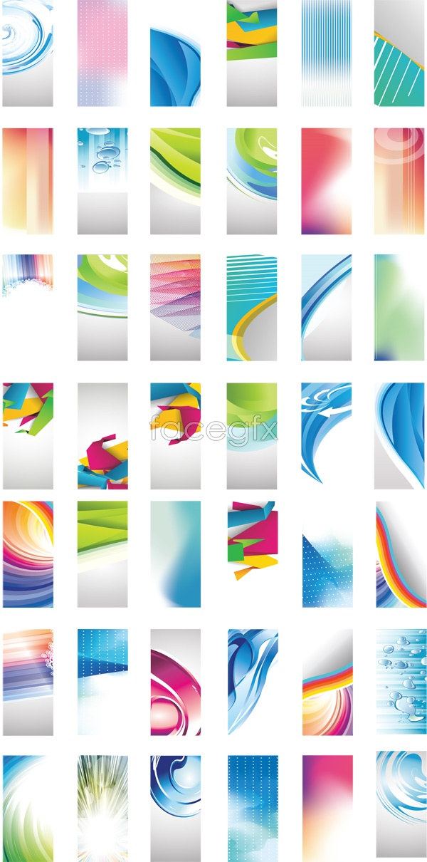 Technology cards backgrounds Vector