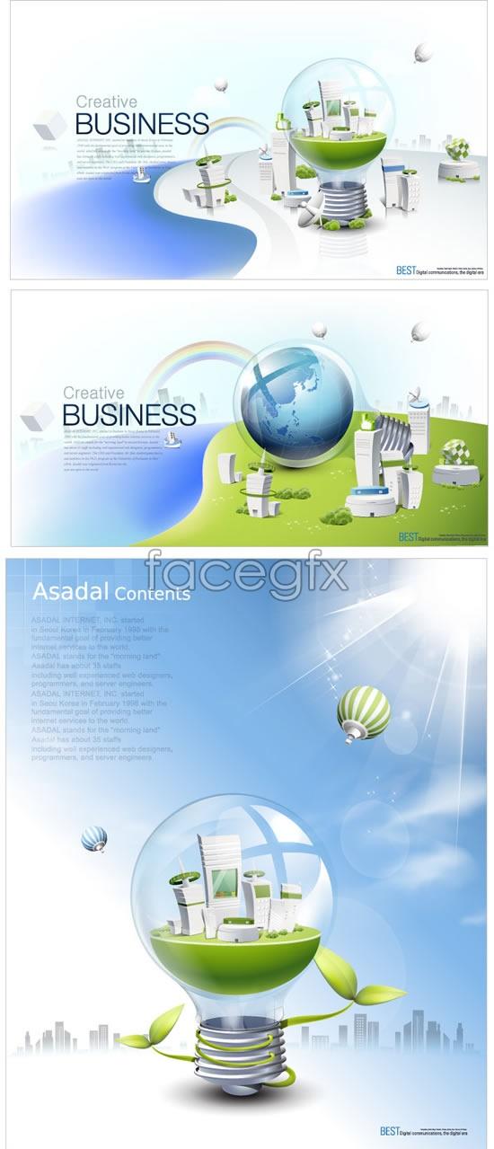Technology environmental poster Vector