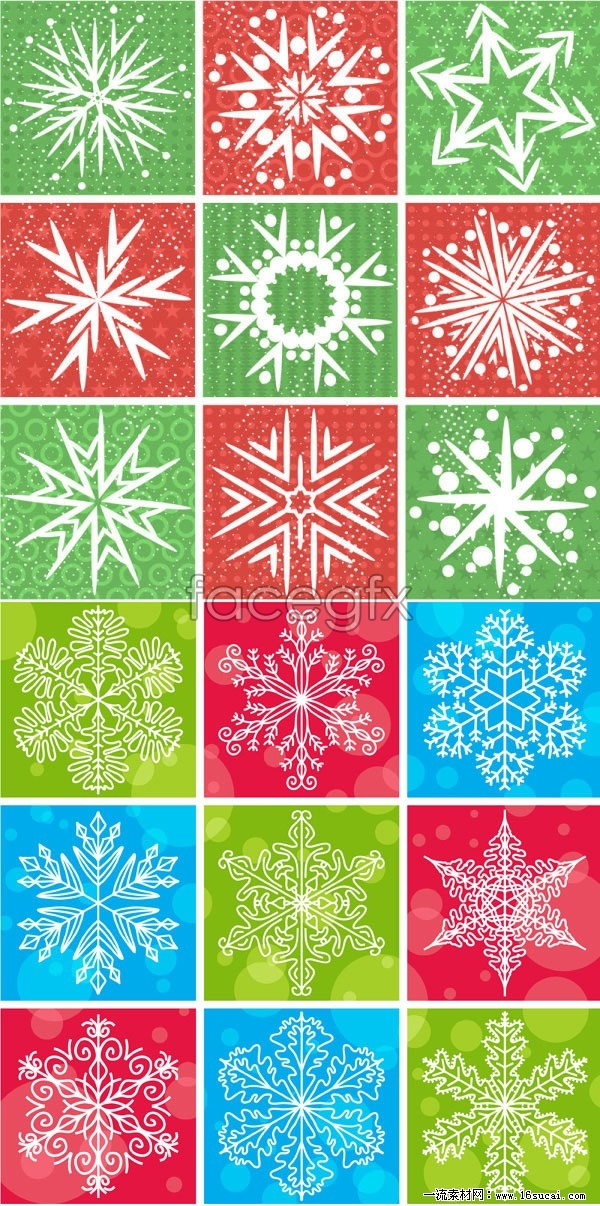 Two snowflake background vector