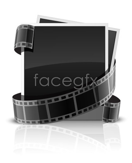 Vector photo card and film