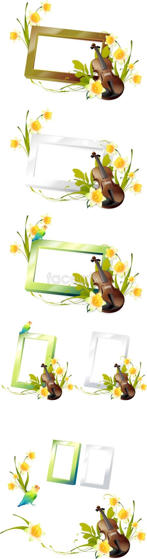 Violin phase box Vector