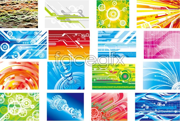 Vision technology background Vector