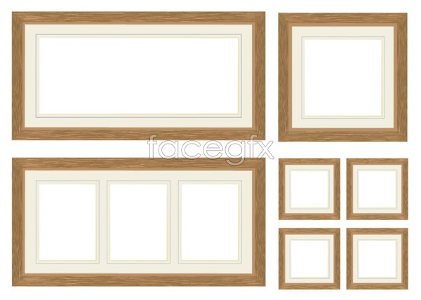Wood photo frame Vector