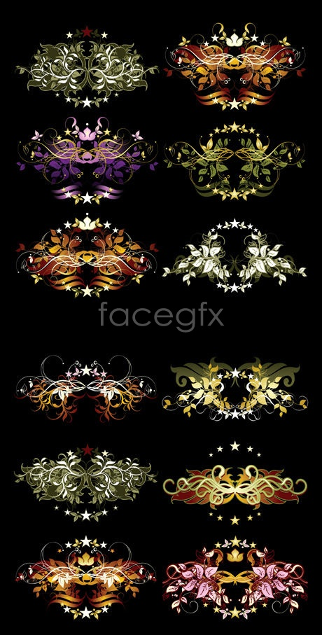 You pattern plate Vector