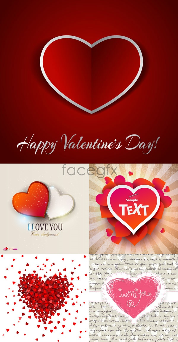 Happy Valentine backgrounds Vector
