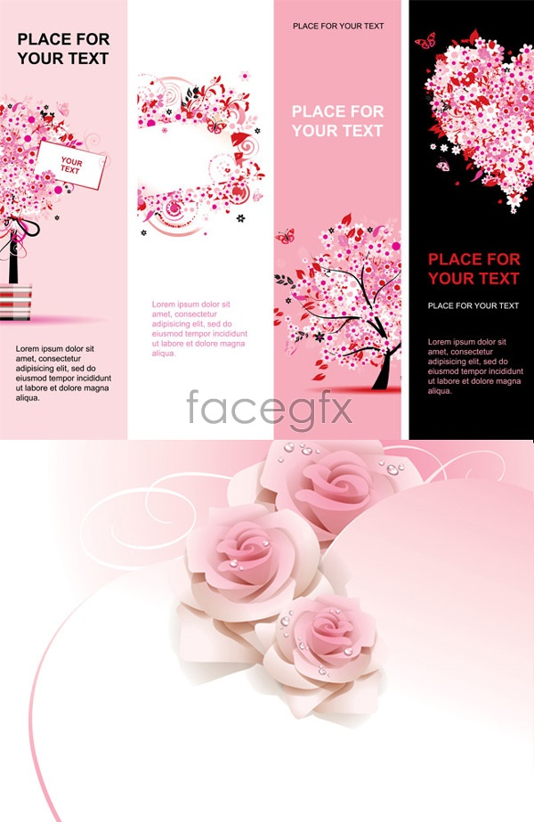 Shades of Roses Valentine Vector