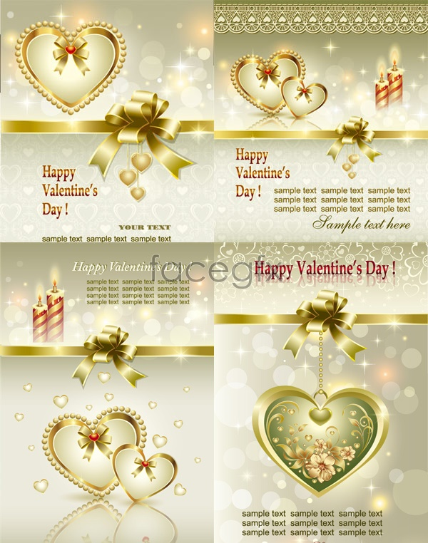 Valentine's day gift card Vector