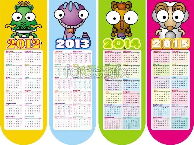 2013 cartoon calendar template