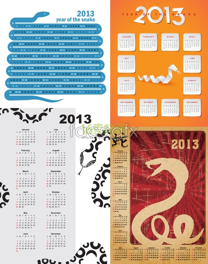 2013 year creative calendar calendar vector