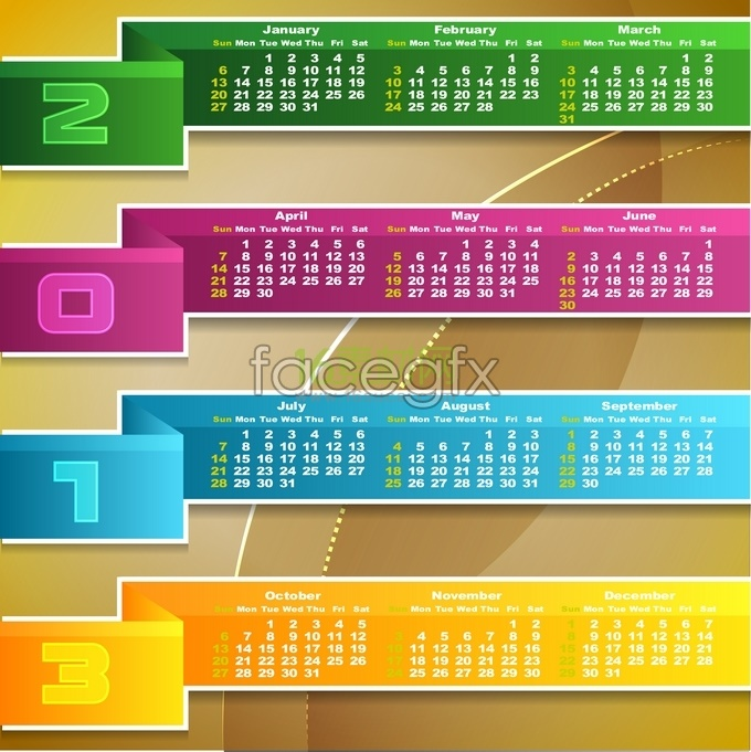Calendar calendar 2013 creative personality vector