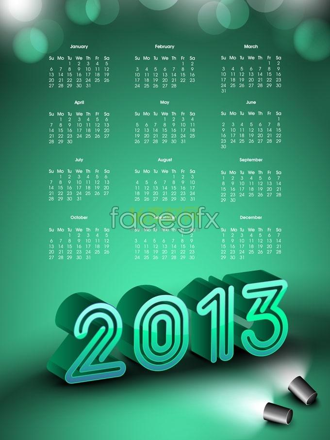 Creative 2013 calendar template