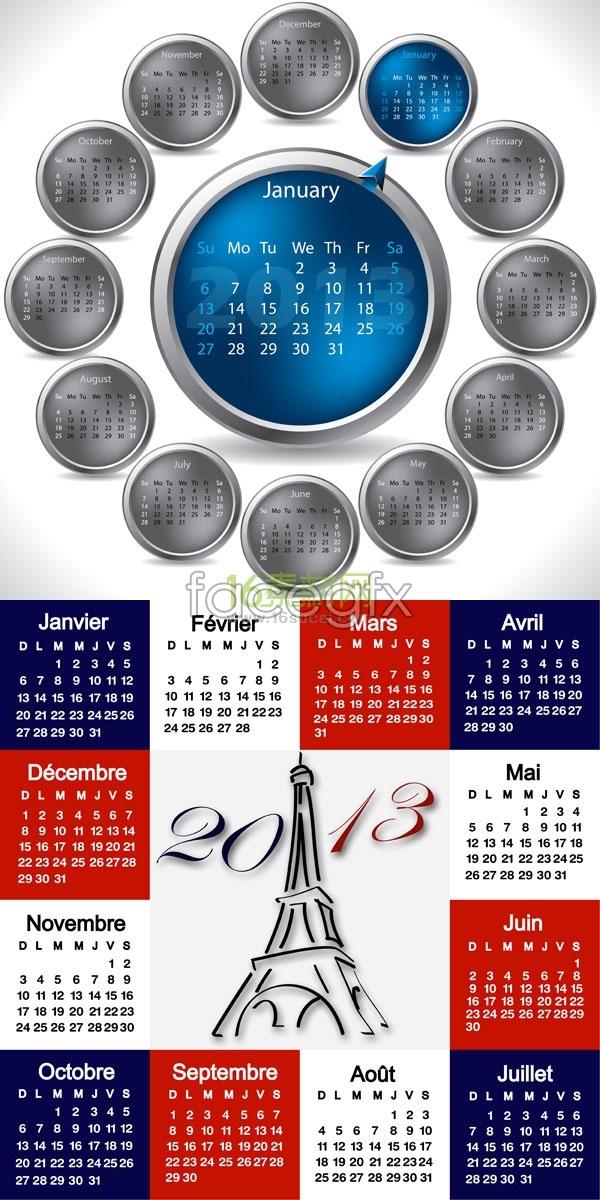 Creative calendar 2013 calendar template
