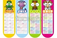 2013 cartoon calendar template