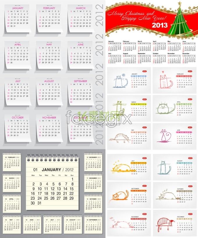 2013 calendar calendar menu vector