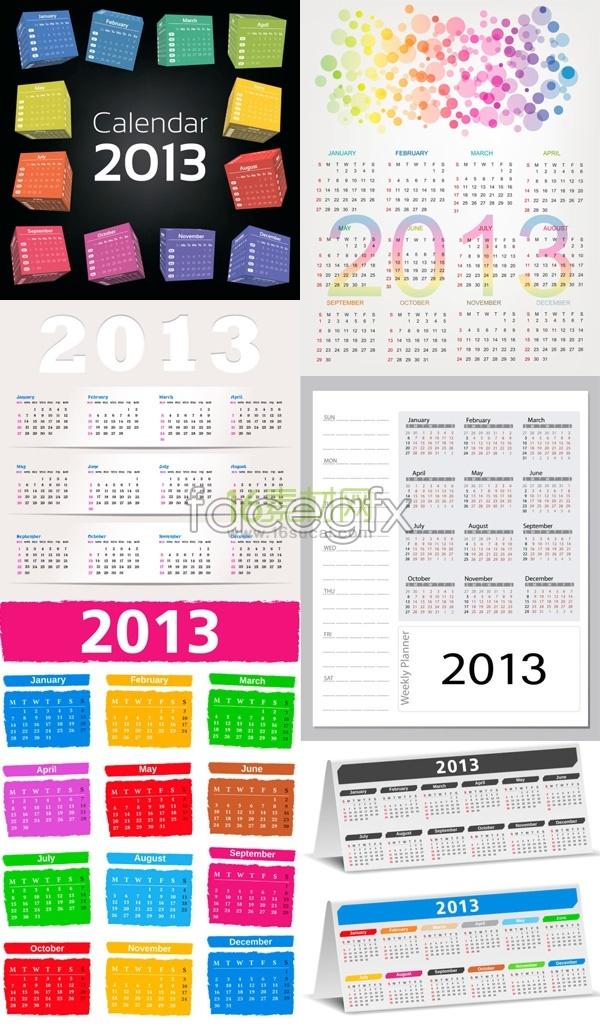 2013 creative menu calendar
