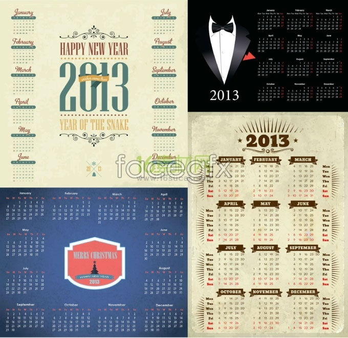 2013 new year calendar calendar