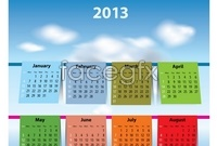 2013 calendar calendar part of vector graphics