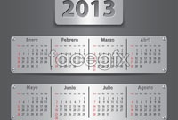 2013 metallic calendar template
