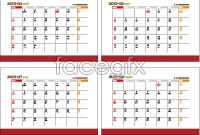 Calendar 201 March-201 April calendar template