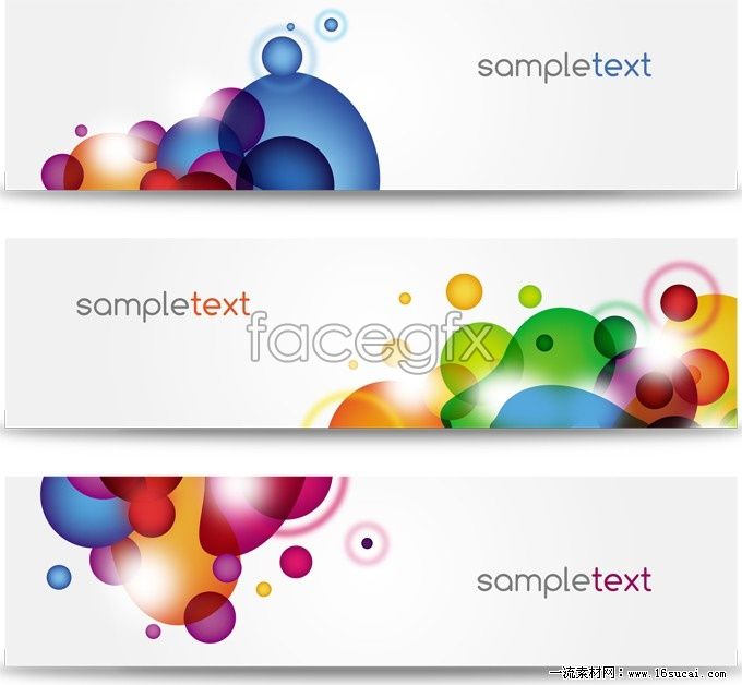 Colorful Bubble Banner Background Vector Free Download