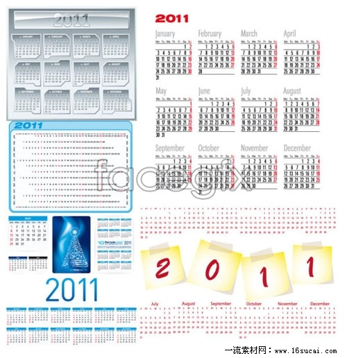 Beautiful 2011 calendar template