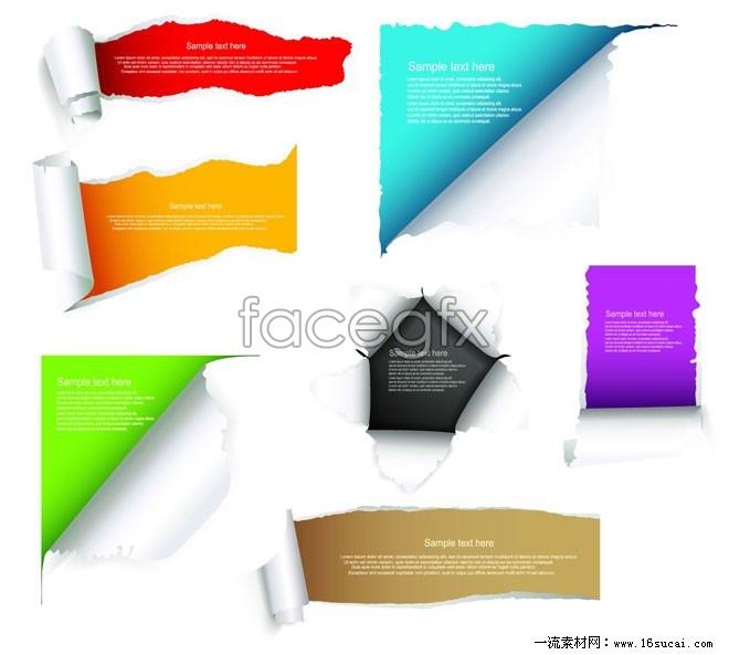 Torn paper vector III