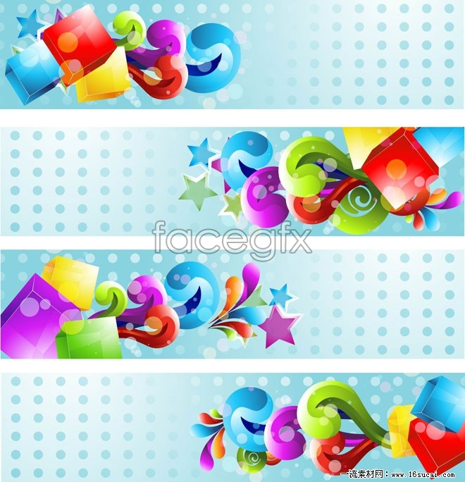 4 current banner background vector