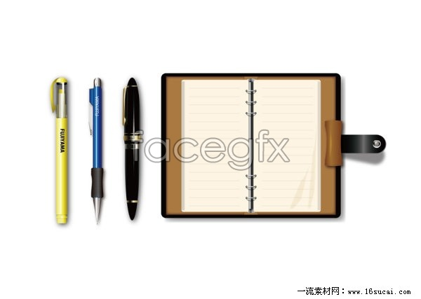Ballpoint pen Notepad vector