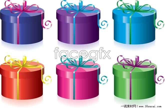 Cake gift box vector
