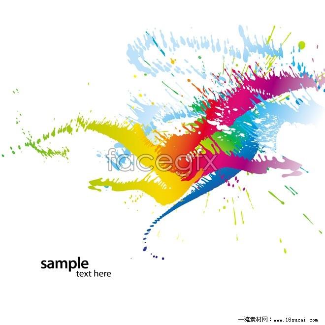 Color paint splash vector