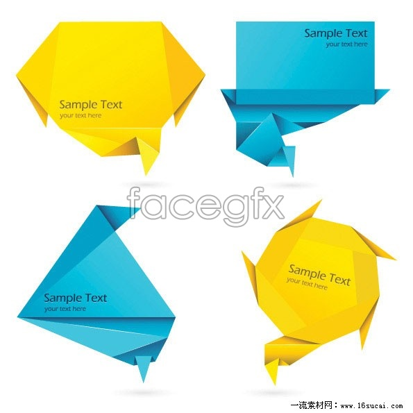 Colorful origami decorative graphics vector 5