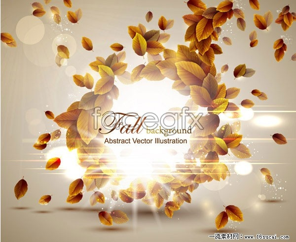Creative combination of autumn leaf graphic vector 5