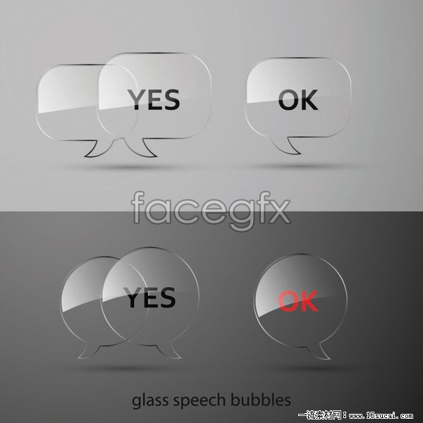 Glass texture dialog box, vector