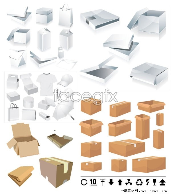 Packaging and carton template vector