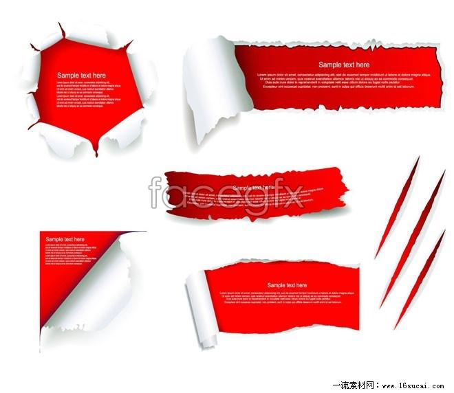 Torn paper vector II