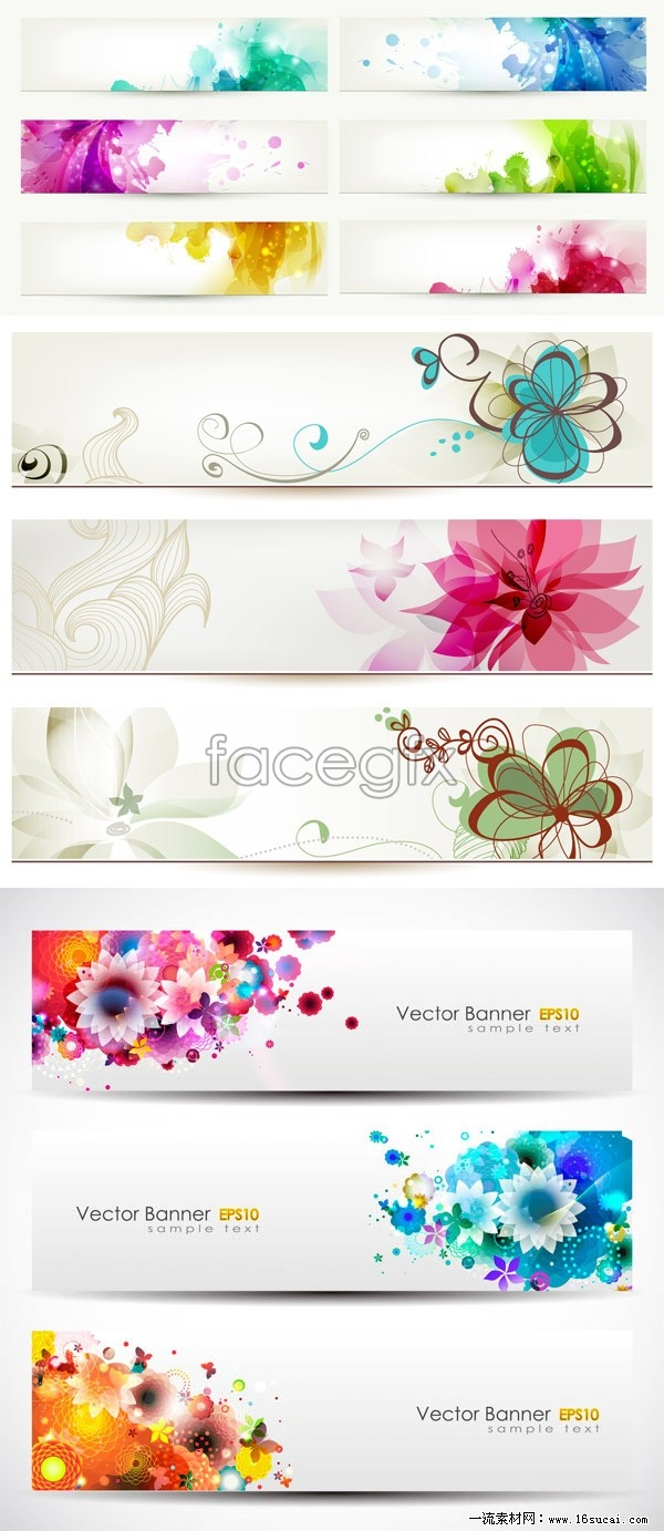 Design vector banner - Magic Flower Banner Vector Design